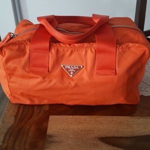 Prada Orange Tessuto bag